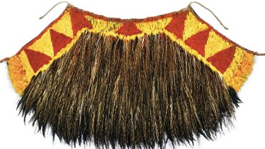 The cape of feathers, made and revered by the Hawaiian people, given to Captain James Cook in 1778. which Heather Joynes helped to  restore.