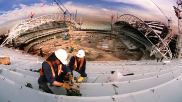 Here we go again: ANZ Stadium in Homebush while being built for the 2000 Olympic Games.