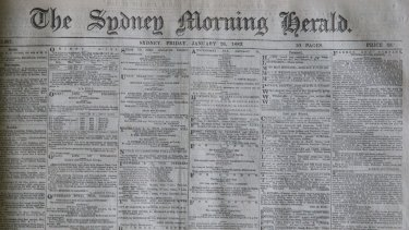 """front page, """"Anniversary Day"""", 1883."""