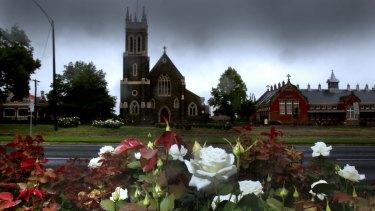 The presbytry, church and school of St Alipius in Ballarat.