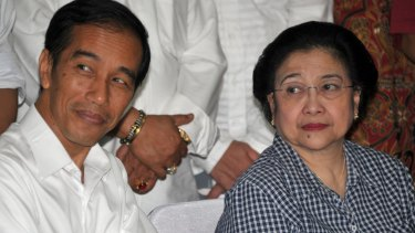 Indonesian President Joko Widodo with Megawati Sukarnoputri.