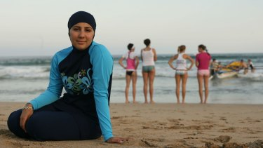 Mecca Laalaa became Cronulla's first burqini-clad lifeguard in 2006.