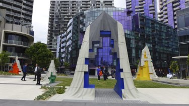 An innovative approach to art in Docklands'  Monument Park.