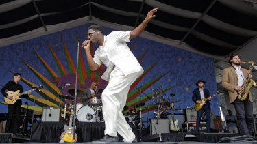 Leon Bridges looks and sounds like a performer from another era.