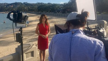 Amber Sherlock, news and weather presenter for the Nine Network.