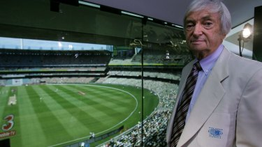 A lifelong contribution to cricket: Richie Benaud at the MCG.