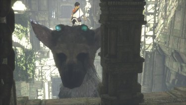 You can command Trico to lift you up to a ledge to explore new areas, if he feels like it.