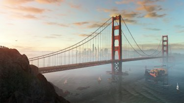 San Fransisco is not only a beautiful location, it also makes perfect sense given the themes.