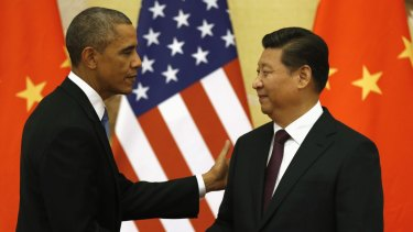 Important advancement: US President Barack Obama and Chinese President Xi Jinping.