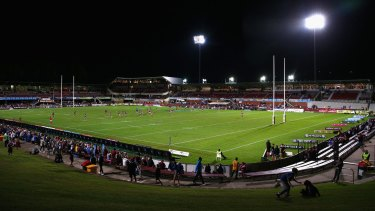 Traditional rivals: The NRL clash on April 14, 2016, between Manly Sea Eagles and Parramatta Eels.