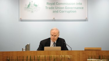 Dyson Heydon is hearing an application by unions to disqualify him as head of the Trade Unions Royal Commission.