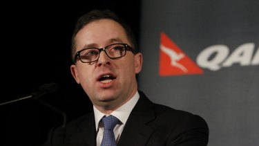 Qantas chief executive Alan Joyce: 'Without the impact of transformation, we would not be announcing a profit today.'