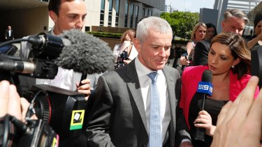 One Nation Senator Malcolm Roberts outside the High Court in Brisbane last week.