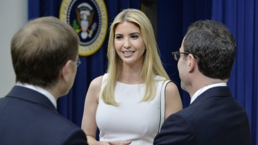 Ivanka Trump at a meeting on the America business climate in the White House.