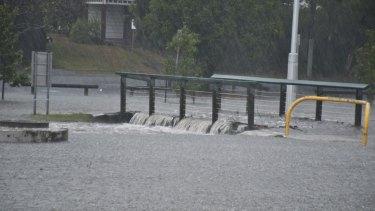 Flooding at Stones Corner.