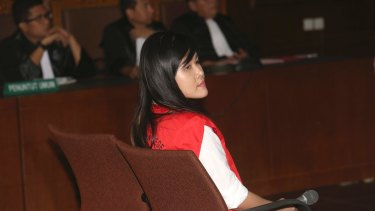 Jessica Wongso is accused of murdering her friend by poisoning her with cyanide.