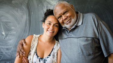 Katie Beckett with her father Les.