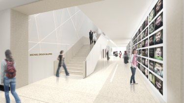 An artist impression of the new galleries created as part of the $15 million makeover of the State Library of NSW.