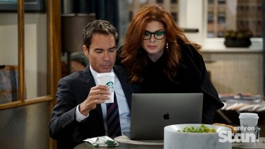 Eric McCormack was nominated for the rebooted Will & Grace but Debra Messing was overlooked.