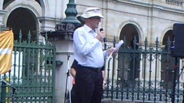 Senator David Leyonhjelm at the rally.