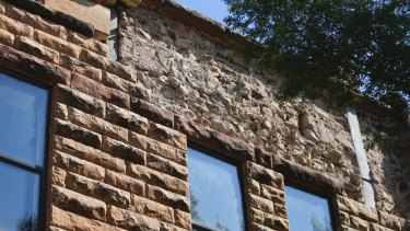 The side of the historic Pawnee County Bank after the earthquake.