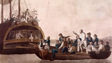 The Mutiny on the HMS Bounty (Robert Dodd, 1790).