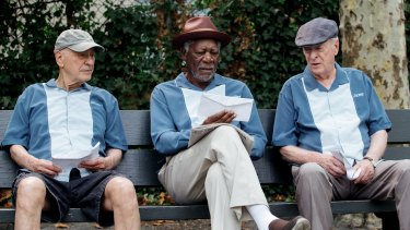 Plenty of time to kill: (From left) Alan Arkin, Morgan Freeman and  Michael Caine star in <i>Going in Style</i>.