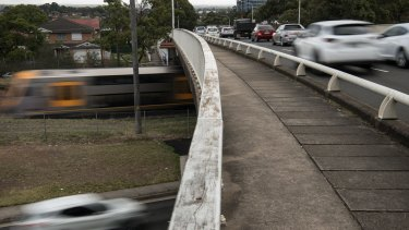 About 66,000 vehicles pass over the Stacey Street overbridge at Bankstown each day.