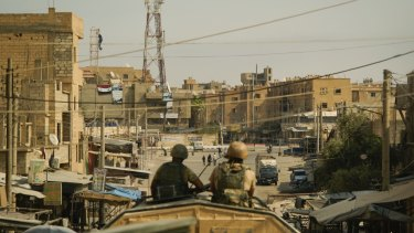 A view of the city of Deir Ezzor, Syria.