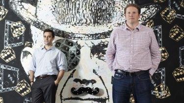 Chris Brycki (left) and Toby Heap will attend Fintech Week London next month.