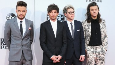 One Direction singers Liam Payne, Louis Tomlinson, Niall Horan and Harry Styles.