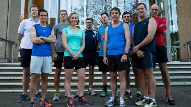 The group of barristers running in the <i>Sydney Morning Herald</i> Half Marathon and raising money for the Katrina Dawson Foundation.