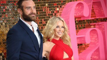 Singer Kylie Minogue, right, and former fiance Joshua Sasse.