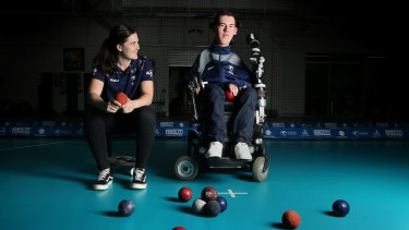 """Paralympian Daniel Michel with his sport assistant Ashlee McClure. """"We're a team."""""""