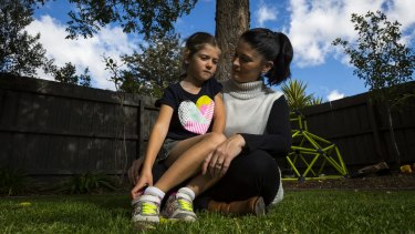 Simone Cariss with her six-year-old daughter Asha.