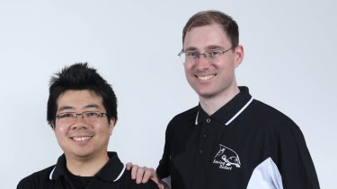 Stanley Lam (left) and Mark Whitty from UNSW's robotics team.