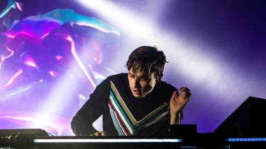 Global star of electronica, Flume,  at Sydney's Laneway Festival in February 2016.