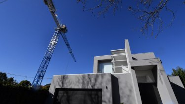 The crane in Elwood that is overhanging a neighbouring home.