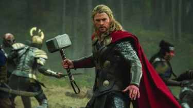 It's unclear if Chris Hemsworth will be swinging the mighty Mjolnir around the Brisbane CBD.