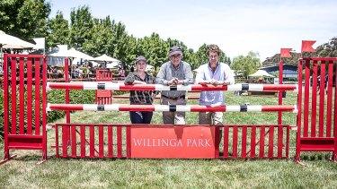 Equestrian Australia CEO Paula Ward, Terry Snow and Rio Olympic team eventing bronze medallist, Chris Burton..