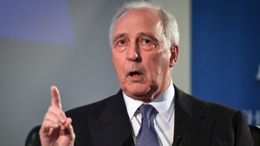 Former prime minister Paul Keating at his book launch in Melbourne.