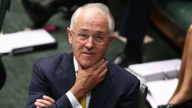 Prime Minister Malcolm Turnbull during question time. He wants a referendum worded to 'sing' to Aboriginal and Torres Strait Islander people.