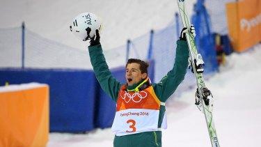 Living the dream: Matt Graham celebrates after winning the silver medal.