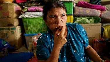 Volcano refugee Asni Beru Karo, who has been displaced since Mount Sinabung first erupted in 2010.