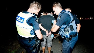 A man arrested in a family violence call out.