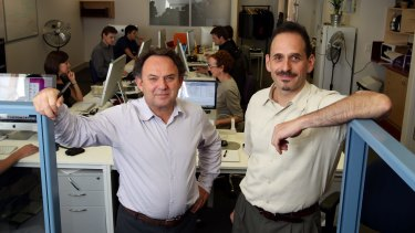 Founders of The Conversation, Andrew Jaspan (L) and Jack Rejtman (R).