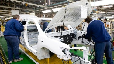 A camry in production at Altona.