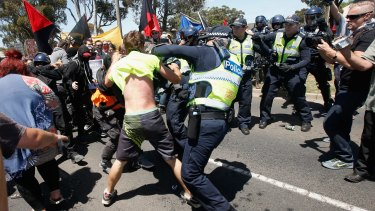 Young men from the crowd would get fired up and provoke police ire.