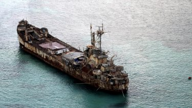 The dilapidated Philippine Navy ship grounded near Second Thomas Shoal as a defence against Chinese encroachment.