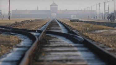 The former Nazi death camp Auschwitz-Birkenau in Oswiecim, southern Poland.